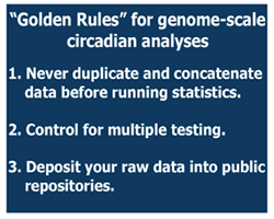Guidelines for Genome-Scale Analysis of Biological Rhythms